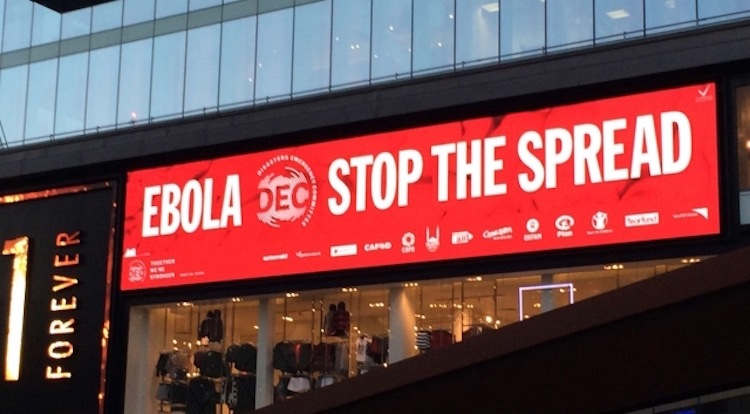 Donations in fight against Ebola spread turn digital and mobile