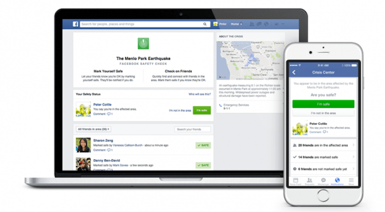 Facebook adds alert notification with Safety Check
