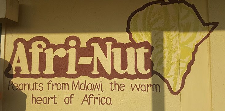 Crew in from of Afri-Nut factory