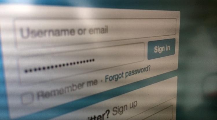wachtwoord scherm