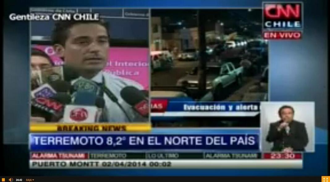 SMS-alert voor evacuatie Chili na aardbeving