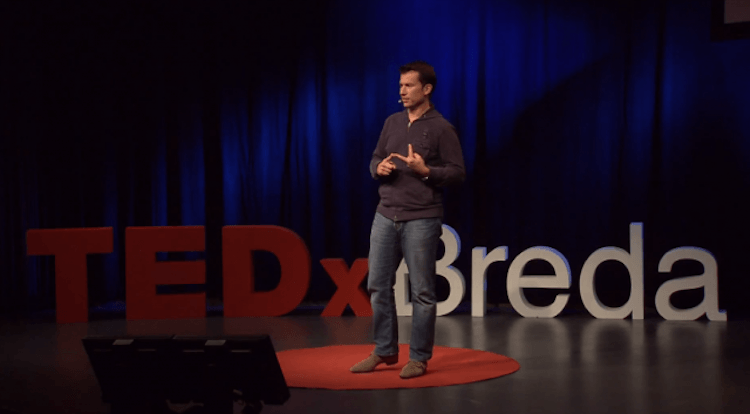 Humor, self-deprecating and briljant ideas at TEDxBreda