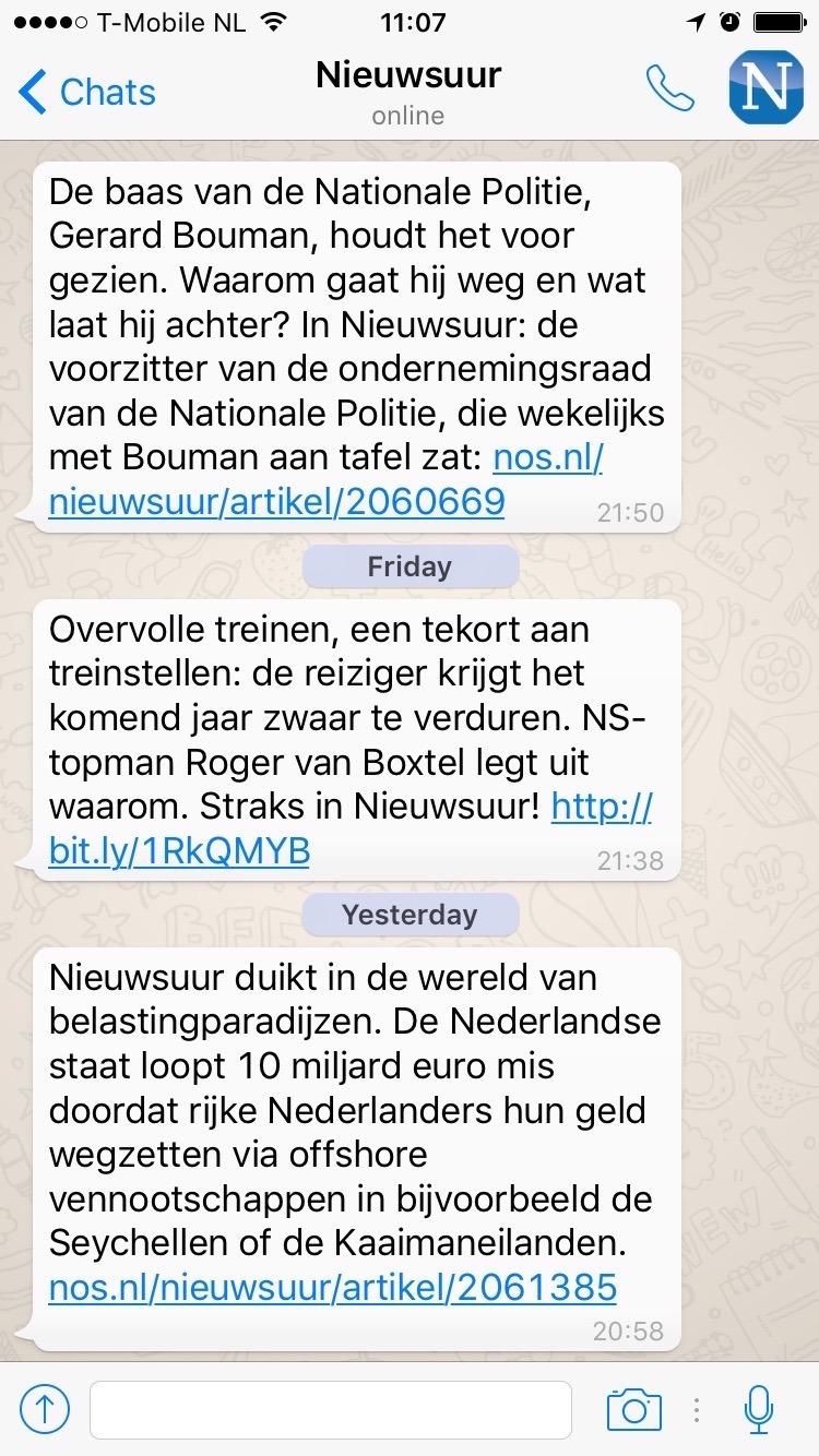 Nieuwsuur WhatsApp nieuwsalert