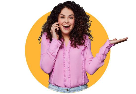 girl calling