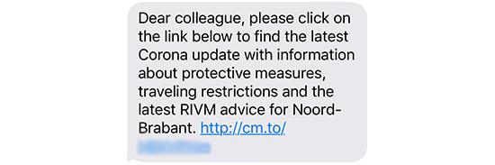 SMS corona