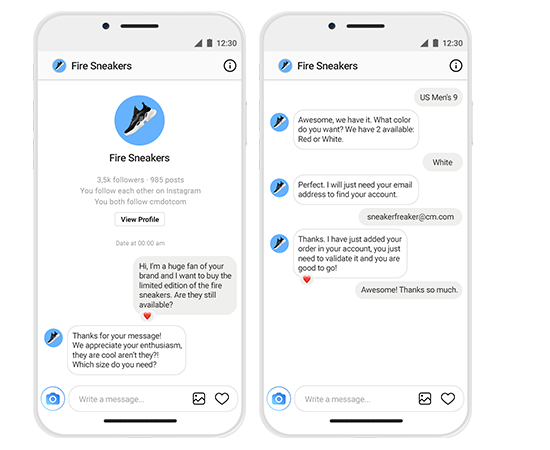 Instagram Messaging Inbox Thread Business