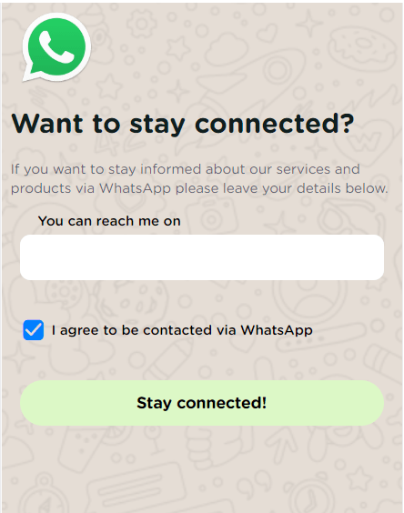 whatsapp optin pages