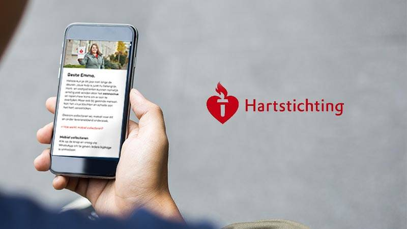 a personalized mobile landing page for donations