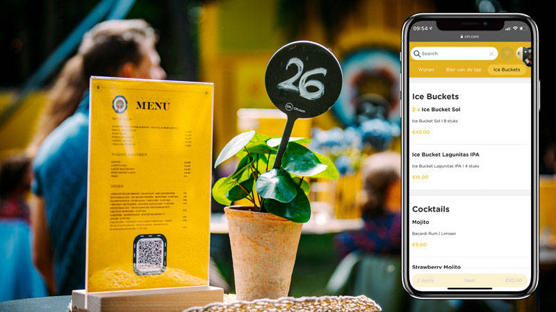 a menu accessible on your mobile phone