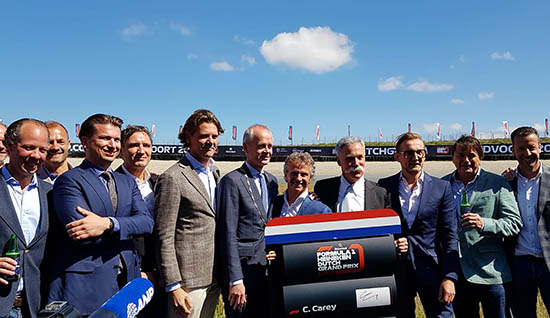 CM.com and Formula 1 Dutch Grand Prix presenting their partnership