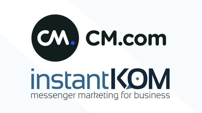 CM.com und InstantKOM schließen Partnerschaft ab