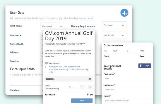 email campaigns flow for golf day