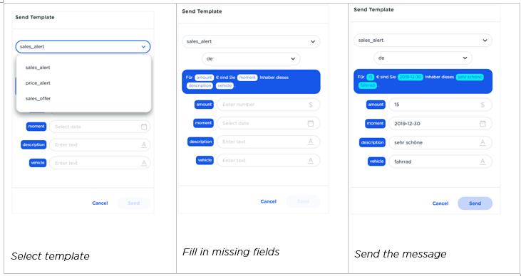CM.com - customer contact send templates