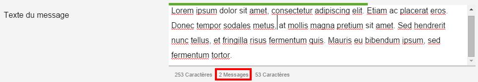 Combien de messages êtes-vous sur le point d'utiliser ?