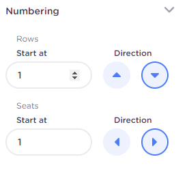 Numbering seated ticketing