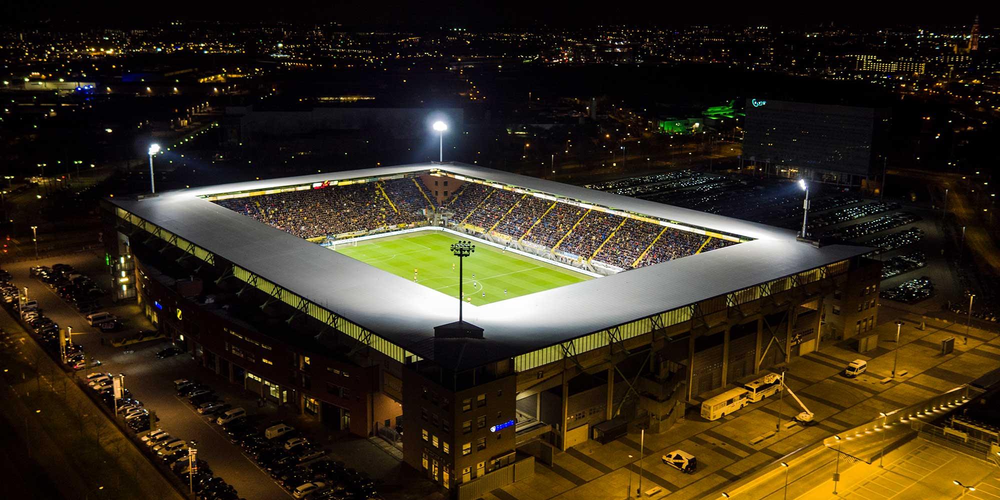 Verlicht stadion NAC Breda