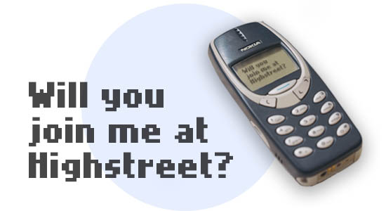 sms highstreet club message