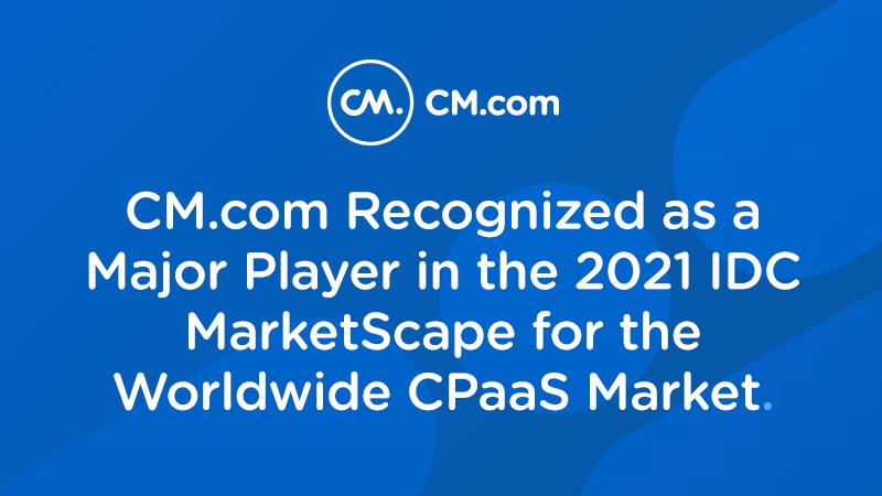 CM.com recognized by IDC