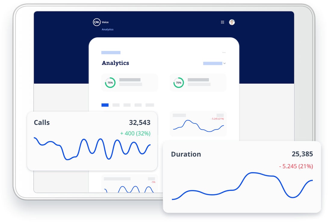 Voice management dashboard